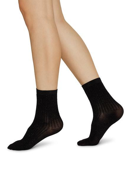 STELLA shimmery socks-black