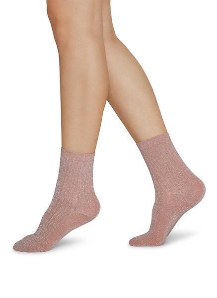 STELLA shimmery socks-dusty rose