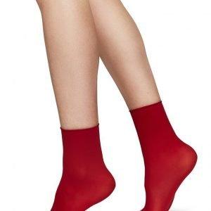 JUDITH socks BLACK/ DARK RED 2-pack/one size