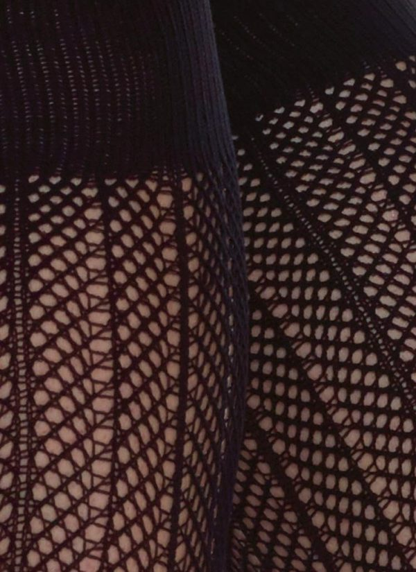 ASTRID NET podkolienky ~ Čierne ~ One size