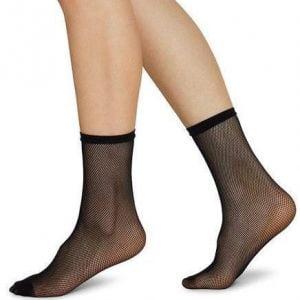 elvira net ponožky čierne