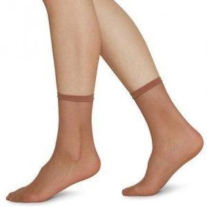 elvira net ponožky béžová