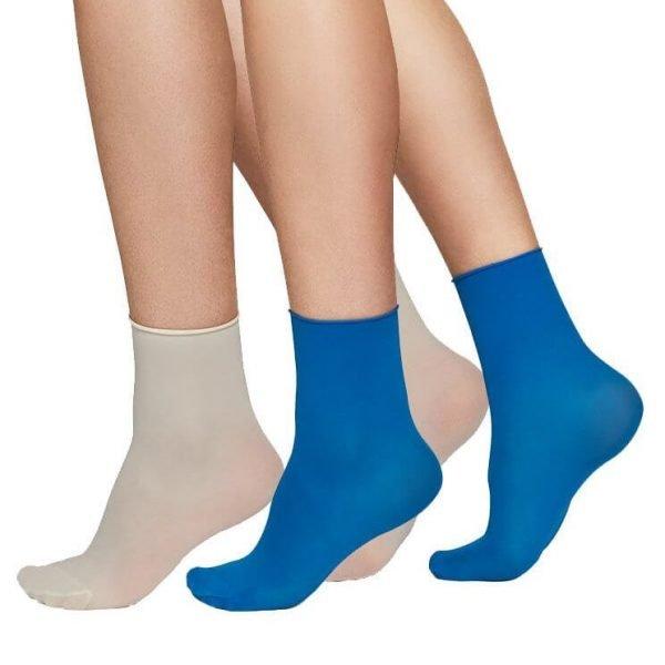 Judith ponožky modrá/béžová