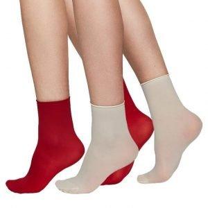 udith ponožky červená/béžová