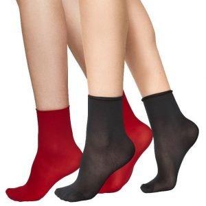 Judith ponožky červené/čierne